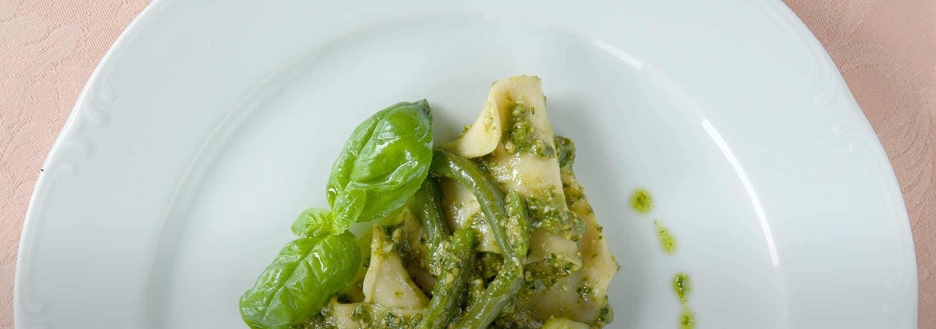 Lasagne al pesto, Trattoria du Ruscin, ph credit Rossella Murgia