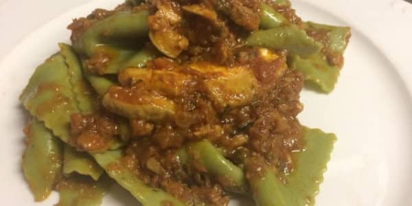 lasagnette verdi al sugo di funghi